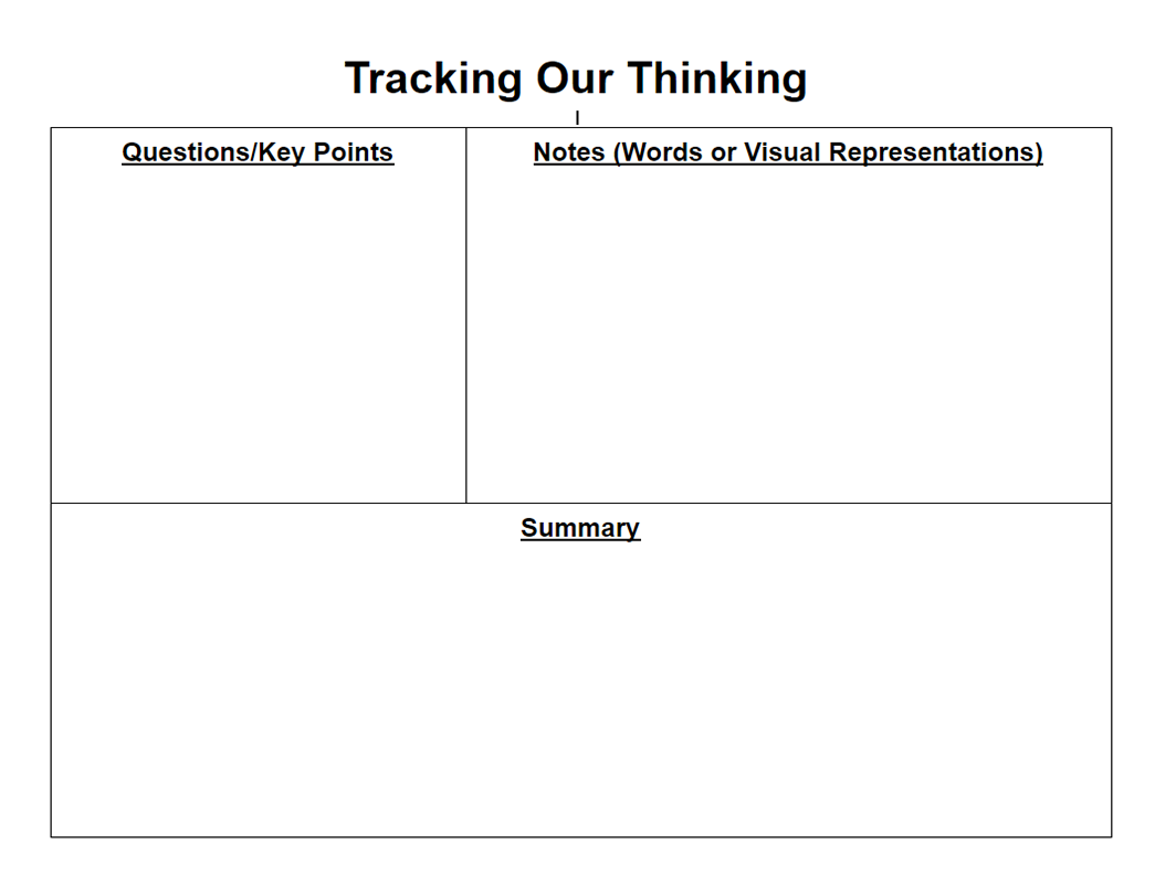 Tracking Our Thinking